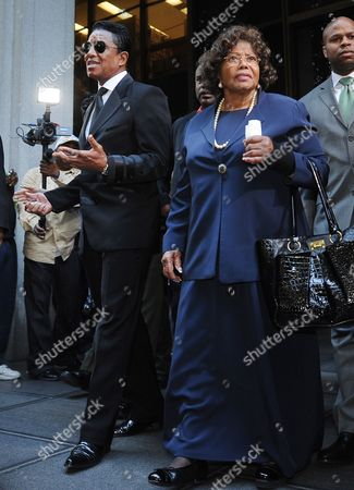 Katherine Jackson (r) the Mother of the Late Michael Jackson and Jermaine Jackson (l) the Brother of the Singer Leave the Courthouse After the Sentencing of Dr Conrad Murray who was Convicted of Involuntary Manslaughter For the Death of Pop Signing Legend Michael Jackson at the Los Angeles Superior Courthouse in Los Angeles California Usa 29 November 2011 Murray was Sentenced to the Maximum of Four Years in the Death of Jackson United States Los Angeles