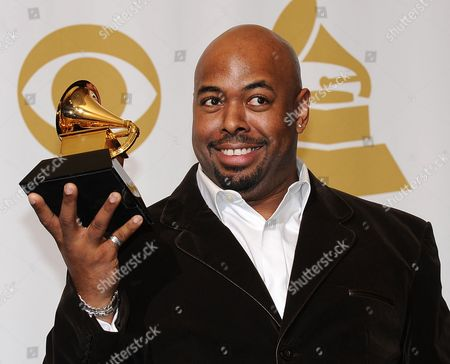 Us Musician Christian Mcbride Holds His Grammy Award For Best Large Jazz Ensemble Album For the Good Feeling in the Press Room at the 54th Annual Grammy Awards at the Staples Center in Los Angeles California Usa 12 February 2012 United States Los Angeles