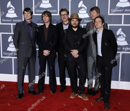Glenn Kotche (l-r) Pat Sansone Mikael Jorgensen Jeff Tweedy Nels Cline and John Stirratt of Wilco Arrive For the 54th Annual Grammy Awards at the Staples Center in Los Angeles California Usa 12 February 2012 United States Los Angeles
