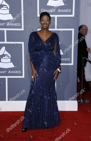 Stock Image of Gospel Singer Le' Andria Johnson Arrives For the 54th Annual Grammy Awards at the Staples Center in Los Angeles California Usa 12 February 2012 United States Los Angeles