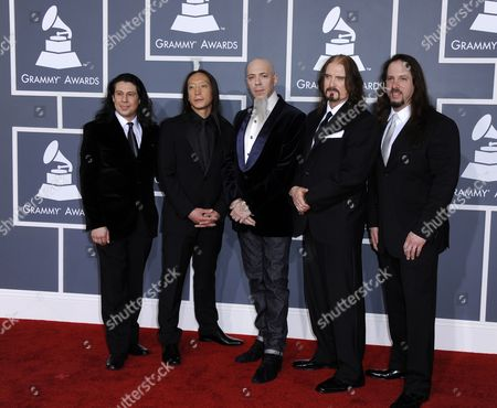 Mike Portnoy (l-r) John Myung Jordan Rudess James Labrie and John Petrucci of the Band Dream Theater Arrive For the 54th Annual Grammy Awards at the Staples Center in Los Angeles California Usa 12 February 2012 United States Los Angeles
