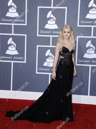 Ukrainian Singer Mika Newton Arrives For the 54th Annual Grammy Awards at the Staples Center in Los Angeles California Usa 12 February 2012 United States Los Angeles