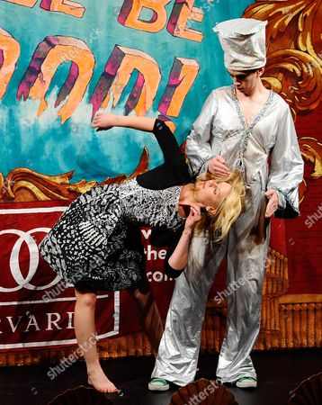 Us Actress Claire Danes Competes in a 'Dance Off' with a Robot Played by Hasty Pudding Theatricals' Sam Clark During the Roast Portion of the Hasty Pudding Theatricals 2011 Woman of the Year Award Ceremony at Harvard University in Cambridge Massachusetts Usa 26 January 2012 Each Year the Hasty Pudding Theatricals Honors a Performer who Has Made a 'Lasting and Impressive Contribution to the World of Entertainment ' United States Cambridge