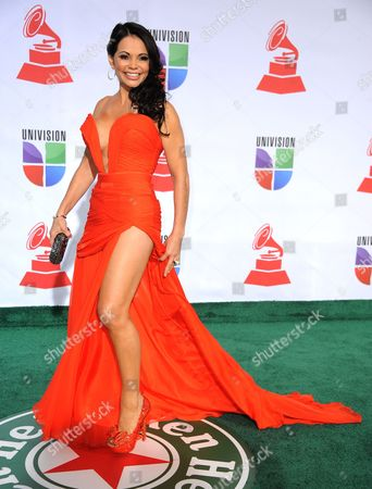 Model and Tv Personality Julie Ferretti Arrives For the 12th Annual Latin Grammy Awards in Las Vegas Nevada Usa 10 November 2011 Latin Grammy Awards Recognize Artistic And/or Technical Achievement not Sales Figures Or Chart Positions and the Winners Are Determined by the Votes of Their Peers-the Qualified Voting Members of the Academy United States Las Vegas