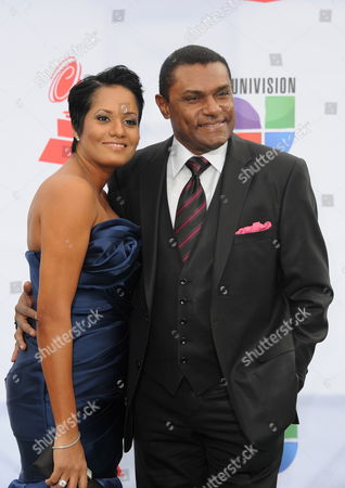 Dominican Republic Born Singer Jose Alberto 'El Canario' (r) and His Wife Terely Arrive For the 12th Annual Latin Grammy Awards in Las Vegas Nevada Usa 10 November 2011 Latin Grammy Awards Recognize Artistic And/or Technical Achievement not Sales Figures Or Chart Positions and the Winners Are Determined by the Votes of Their Peers-the Qualified Voting Members of the Academy United States Las Vegas
