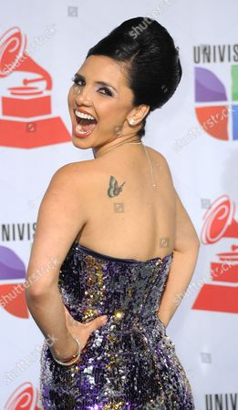 Writer Karen Hoyos Arrives at The12th Annual Latin Grammy Awards in Las Vegas Nevada Usa 10 November 2011 Latin Grammy Awards Recognizes Artistic And/or Technical Achievement not Sales Figures Or Chart Positions and the Winners Are Determined by the Votes of Their Peers-the Qualified Voting Members of the Academy United States Las Vegas