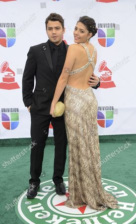 Us Musican Andres Saavedra (l) and Wife Actress Catalina Mesa Arrive For the 12th Annual Latin Grammy Awards in Las Vegas Nevada Usa 10 November 2011 Latin Grammy Awards Recognize Artistic And/or Technical Achievement not Sales Figures Or Chart Positions and the Winners Are Determined by the Votes of Their Peers-the Qualified Voting Members of the Academy United States Las Vegas