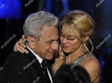 Colombian Singer Shakira (r) Hugs Her Father William Mebarak Chadid (l) at the Latin Recording Academy Person of the Year Tribute to Shakira in Las Vegas Nevada Usa 09 November 2011 Latin Grammy Awards Recognizes Artistic And/or Technical Achievement not Sales Figures Or Chart Positions and the Winners Are Determined by the Votes of Their Peers-the Qualified Voting Members of the Academy United States Las Vegas