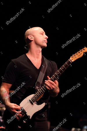 Jeff Stinco of the Canadien Band Simple Plan Performs at the Murat Theater in Indianapolis Indiana Usa 07 December 2011 United States Indianapolis