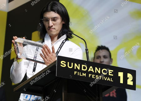 Us Cinema Photographer James Balog Accept the Excellence in Cinematography Award: U S Documentary For the Movie 'Chasing Ice' As the at the Sundance Film Festival Award Ceremony in Park City Utah Usa 28 January 2012 United States Park City