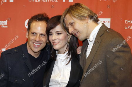 (l-r) Us Actors Josh Pais Parker Posey and Jayce Bartok Arrive For the Premiere of the Movie 'Price Check' at the 2012 Sundance Film Festival in Park City Utah Usa 25 January 2012 the Festival Runs From 19 to 29 January United States Park City