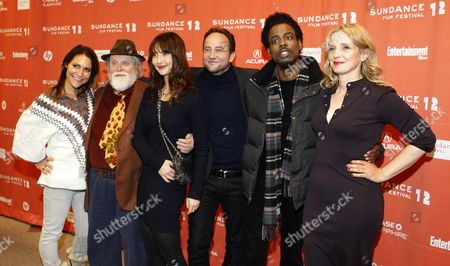 Stock Picture of Actress Emily Wagner (l) Actor Albert Delpy (2-l) Actress Alexia Landeau (3-l) Actor Alex Nahon (3-r) Actor Chris Rock (2-r) and Director Julie Delpy (r) Arrive For the Premier of the Movie '2 Days in New York' at the 2012 Sundance Film Festival in Park City Utah Usa 23 January 2012 the Festival Runs From the 19th to the 29th of January in Park City United States Park City
