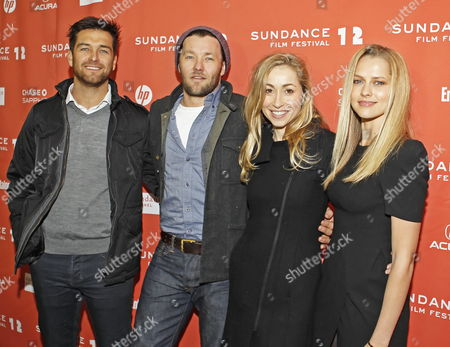 (l-r) Actor Antony Starr Actor Joel Edgerton Actress Felicity Price and Actress Teresa Palmer Arrive For the Premier of Their Movie 'Wish You Were Here' at the 2012 Sundance Film Festival in Park City Utah Usa 19 January 2012 the Festival Runs From 19 Until 29 January United States Park City