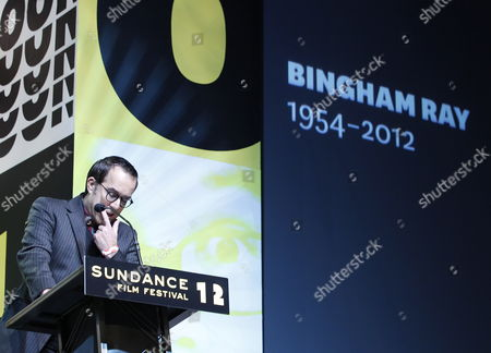 John Cooper Director of the Sundance Film Festival Gathers Himself As He Pays Tribute to Late Us Filmmaker Bingham Ray who Passed Away While Attending the 2012 Sundance Film Festival in Park City Utah Usa 28 January 2012 United States Park City