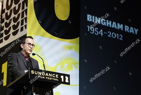 John Cooper Director of the Sundance Film Festival Pays Tribute to Late Us Filmmaker Bingham Ray who Passed Away While Attending the 2012 Sundance Film Festival in Park City Utah Usa 28 January 2012 United States Park City