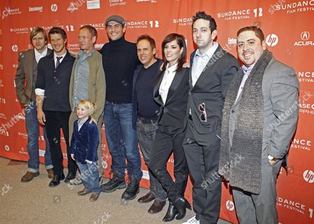 (l-r) Actors Jayce Bartok Eric Mabius Writer/director Michael Walker and Actors Finn Donoghue Cheyenne Jackson Josh Pais Parker Posey Brian Berrebbi and Victor Cruz Arrive For the Premiere of 'Price Check' at the 2012 Sundance Film Festival in Park City Utah Usa 25 January 2012 the Festival Runs From 19 to 29 January United States Park City