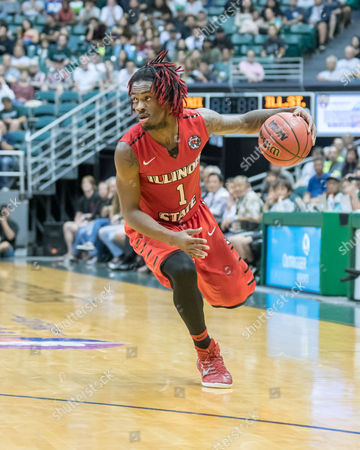Illinois State Redbirds guard Paris Lee (1) during day one of the Diamond Head Classic between the Illinois State Redbirds vs. the Hawaii Warriors at the Stan Sheriff Center in Honolulu, HI. - Steven Erler/CSM