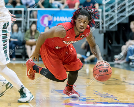 Illinois State Redbirds guard Paris Lee (1) scrambles down court during day one of the Diamond Head Classic between the Illinois State Redbirds vs. the Hawaii Warriors at the Stan Sheriff Center in Honolulu, HI. - Steven Erler/CSM