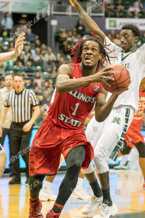 Illinois State Redbirds guard Paris Lee (1) drives to the basket during day one of the Diamond Head Classic between the Illinois State Redbirds vs. the Hawaii Warriors at the Stan Sheriff Center in Honolulu, HI. - Steven Erler/CSM