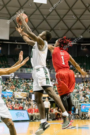 Illinois State Redbirds guard Paris Lee (1) commits a foul defending a shot during day one of the Diamond Head Classic between the Illinois State Redbirds vs. the Hawaii Warriors at the Stan Sheriff Center in Honolulu, HI. - Steven Erler/CSM