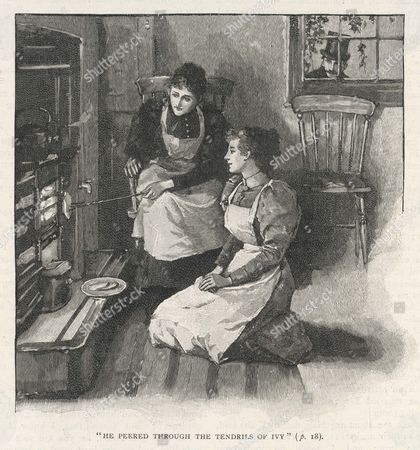 Toasting Bread at A Grate 1894