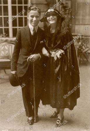 Pola Negri (appolonia Chalupek) Polish Actress Who Went to Hollywood in the 1920s and Was Successful in Silent Films - Seen Here with Charlie Chaplin 1897 - 1987