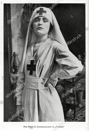 Pola Negri (appolonia Chalupek) Polish Actress Who Went to Hollywood in the 1920s - Seen Here As A Nurse in 'Vendetta' 1897 - 1987