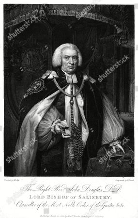 John Douglas Lord Bishop of Salisbury Chancellor of the Most Noble Order of the Garter Depicted in All His Finery As Both Bishop and Garter Knight 1721 - 1807