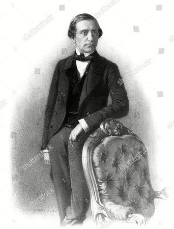 Stock Photo of Josef Alexander Baron Von Hubner Austrian Diplomat Ambassador at Paris 1811 - 1892