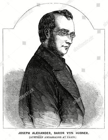 Stock Image of Josef Alexander Baron Von Hubner Austrian Diplomat Ambassador at Paris 1811 - 1892