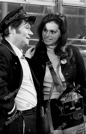 Stock Picture of 'On The Buses'   TV Episode: Brew It Yourself Sally Douglas and Reg Varney