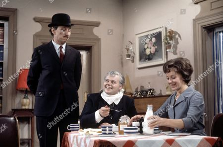 'Mrs Wilson's Diary'   TV Stephen Lewis ( left), Bill Wallis and Myvanwy Jenn