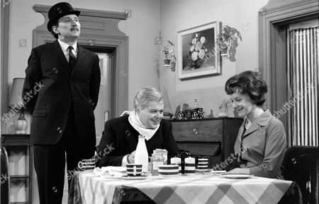 'Mrs Wilson's Diary'   TV Stephen Lewis (left) Bill Wallis and Myvanwy Jenn