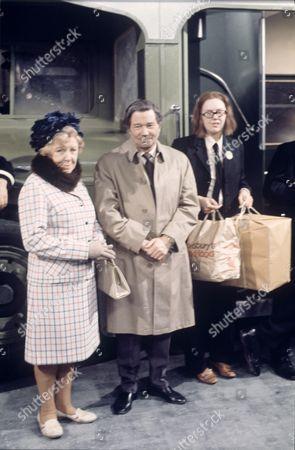 'On The Buses'   TV Episode: Goodbye Stan  Reg Varney with Doris Hare (left) and Anna Karen