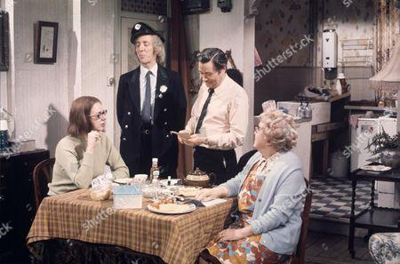 'On The Buses'   TV Episode: Goodbye Stan L-R.Anna Karen, Bob Grant, Reg Varney and Doris Hare