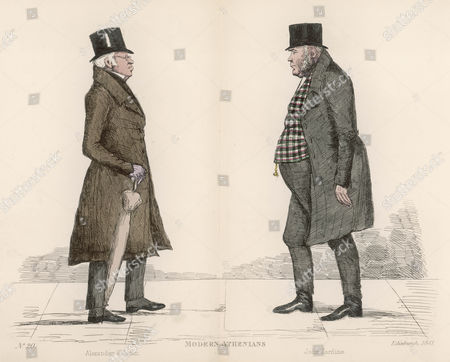 Mr Alexander Kidston (1762-1850) Approaching Mr John Jardine (1777-1850) Sheriff of Ross and Cromarty On the Streets of Edinburgh 1841