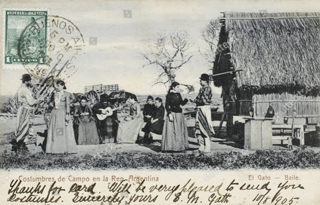 Costumes of Villagers at an Encampment at El Gato - Baile Argentina 1905