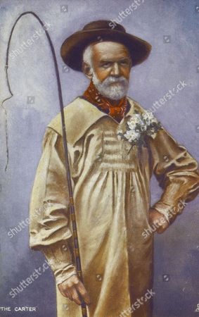 The Carter - A Rustic Cart Driver in His Smock and Carrying A Whip 1905