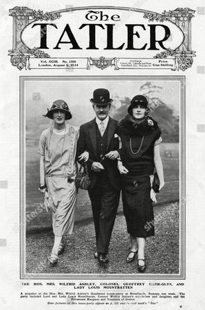 The Hon Mrs Wilfred Ashley (left) Colonel Geoffrey Carr-glyn and Mrs Ashley's Daughter Lady Louis Mountbatten (1901 - 1960) Later Countess Mountbatten of Burma Vicerine of India and Previously Miss Edwina Ashley Pictured at A House Party Held at the Ashley Home of Broadlands Romsey Hampshire Edwina is Looking Impeccably Chic 1924