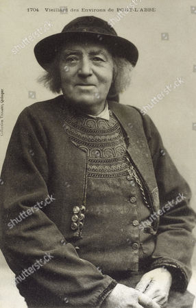 Country Yokel From Pont-l'abbe Brittany France circa 1910s