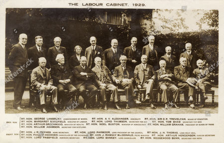 The Labour Party Cabinet Under Prime Minister Ramsay Macdonald 1929