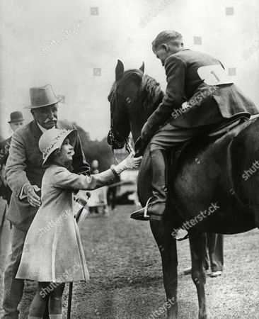 Princess Elizabeth the Future Queen Elizabeth Ii Congratulates A Young Rider at an Unidentified Riding Event 1930s c.1936