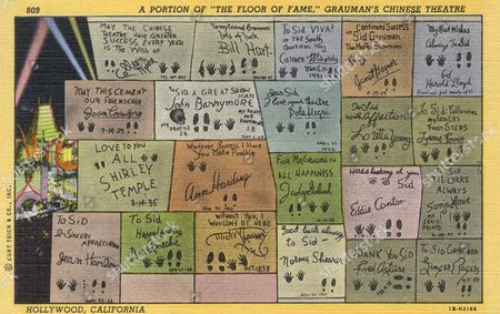 The 'Floor of Fame' at Grauman's Chinese Theatre Hollywood California Usa 1941