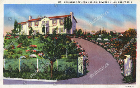 Residence of the Film Star Jean Harlow Beverly Hills Hollywood California Usa 20th century