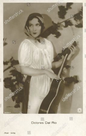 Dolores Del Rio (1905-1983) Mexican Film Actress in Hollywood Seen Here Holding A Guitar 20th century