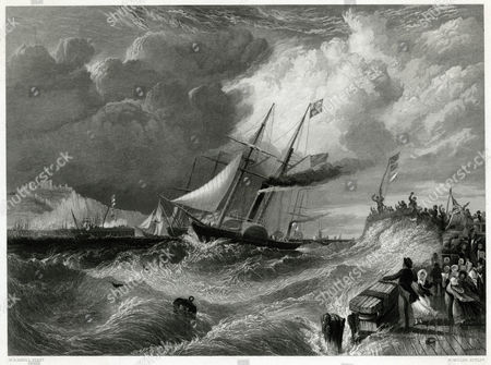Prince Albert Victoria's Consort the Landing of Prince Albert at Dover After Experiencing Very Bad Weather During the Channel Crossing 6 February 1840