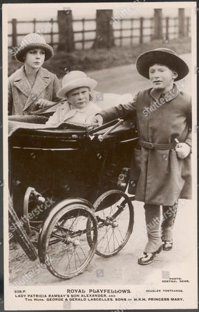 George Henry Hubert Lascelles Later 7th Earl of Harewood (right) with His Brother Gerald David (b 1924) in the Pram and Their Cousin Alexander Ramsay (left) 1923 -2011