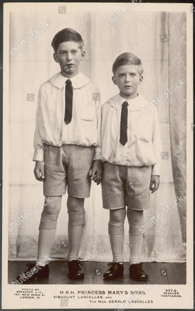 George Henry Hubert Lascelles Later 7th Earl of Harewood Elder Son of 6th Earl Harewood and Princess Mary with His Younger Brother Gerald David (born 1924) 1923 -2011
