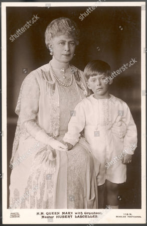 Queen Mary (1867 - 1953) Wife of George V with Her Daughter Mary's Son George Henry Hubert Lascelles Later 7th Earl of Harewood