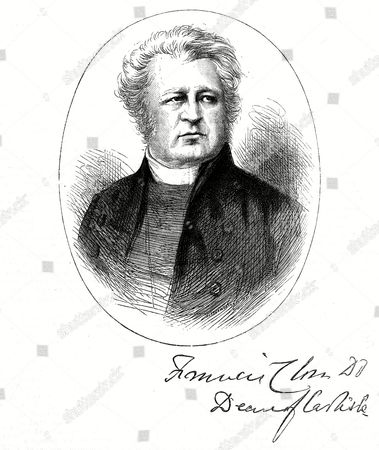 Stock Picture of Francis Close English Churchman : Dean of Carlisle 1797 - 1882